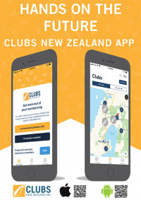 ClubsNZ App poster A4